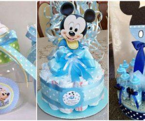 15 Adornos Para Baby shower de Mickey